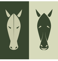 Horse mask vector image vector image
