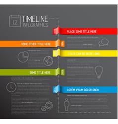 infographic dark timeline report template vector image