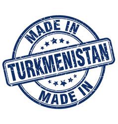 Made in turkmenistan blue grunge round stamp vector