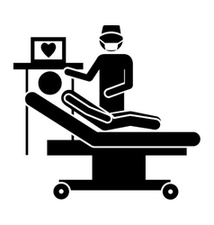 Medical doctor and pacient icon image vector
