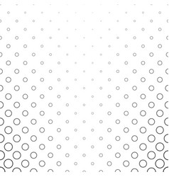 Monochrome circle pattern - geometrical abstract vector