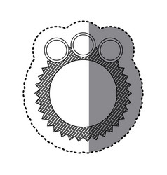 Monochrome sticker of circular speech with vector