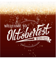 oktoberfest beer festival freshening beer vector image