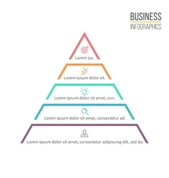 Pyramid triangle with 5 steps levels vector
