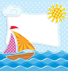 sea textiles vector image