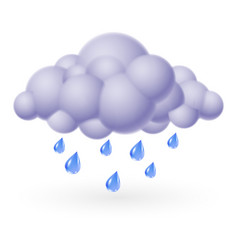 Single weather icon - bubble cloud with rain vector