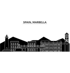 Spain marbella architecture city skyline vector