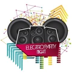 Speaker icon electro party design graphic vector