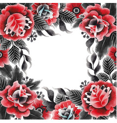 watercolor floral design vector image vector image