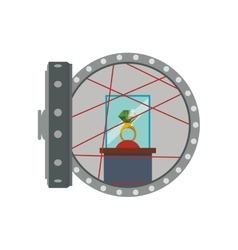 Strongbox ring security money financial item icon vector