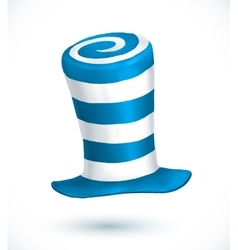 Blue and white colors striped realistic vector