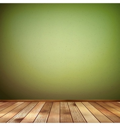 Empty interior with a green wall eps 10 vector