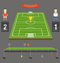 Soccer match statistics template vector image