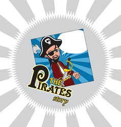 Hipster pirate design vector
