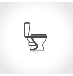 Plumbing icon toilet bowl vector