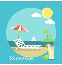 Traveling and summer vacation vector