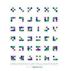 abstract blocks set vector image