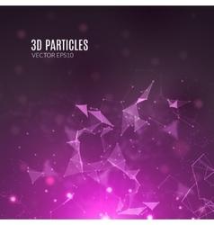 Abstract polygonal techno background futuristic vector