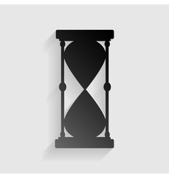 Hourglass sign  black paper with vector