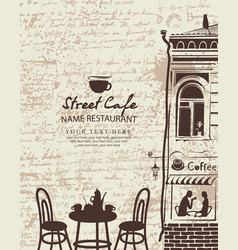 banner for a sidewalk cafe vector image