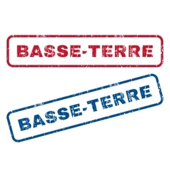Basse-terre rubber stamps vector