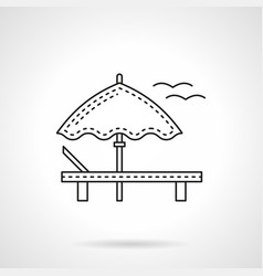 Beach leisure flat line icon vector