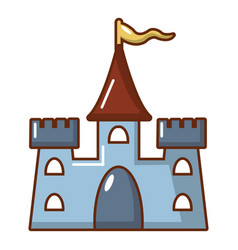 castle construction icon cartoon style vector image vector image