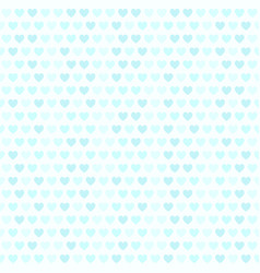 cyan heart pattern seamless vector image vector image