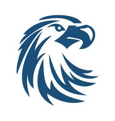eagle or hawk bird logo abstract design vector image