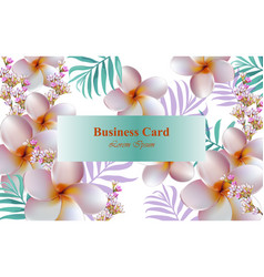 exotic flowers design card background for vector image vector image