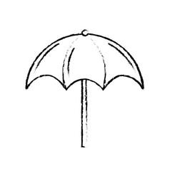 Figure nice umbrella open to protect of sun vector