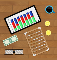 Finance analysis workplace vector