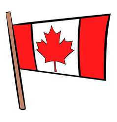 Flag of canada icon cartoon vector