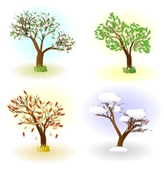Four seasons of love vector image vector image