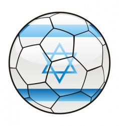 israel flag on soccer ball vector image vector image