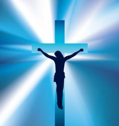 Jesus on cross vector image vector image