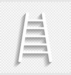 Ladder sign white icon with vector