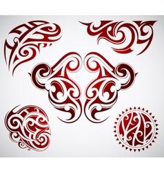 Maori tattoo vector image vector image
