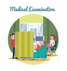 Medical ultrasound diagnostic procedure template vector