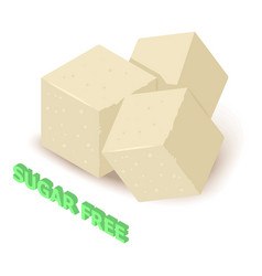 Sugar allergen free icon isometric style vector