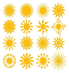 Suns - elements for design vector image vector image
