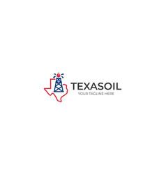 texas oil logo template vector image