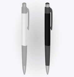 two pens black and white vector image