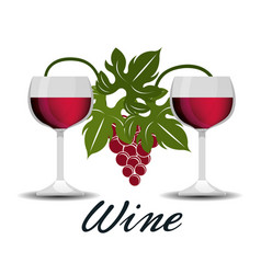 wine design isolated vector image