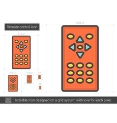 Remote control line icon vector