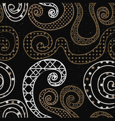Vintage curve pattern with grunge effect vector