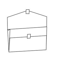 Open folder empty archive office supply vector