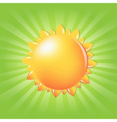 Sun With Sunburst And Rays vector image