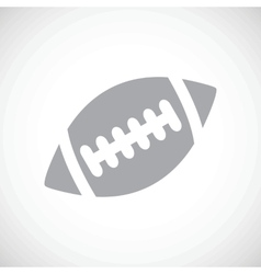 Football black icon vector