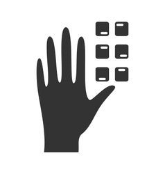 Disability pictogram braille flat icon hand vector